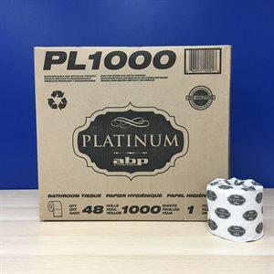 Bathroom tissue 1 pli 48 rlx 1000 feuilles PL1000 (40)(ABP)