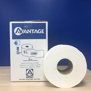 """Bathroom tissue jumbo 8 rlx - 3.3"""" - 1 pli (12 lbs) (60) (ABP)8330112"""