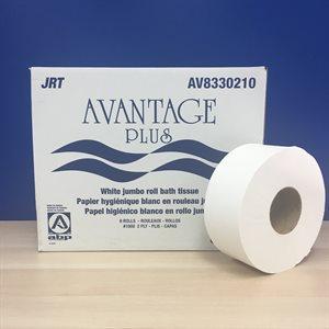 Papier hygiénique B100 / Bribbon 8 rlx 2plis 10lbs-V833210(ABP)(60)