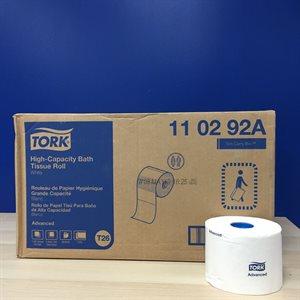 Papier hygiénique (maison) 36 rlx 1000F. 2 plis Tork adv.110292A (R)