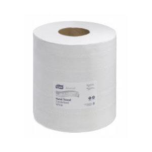 """Papier à mains Centrifuge Tork Blanc 2 plis 8.2"""" 6rlx x 600' (121202)(R)"""