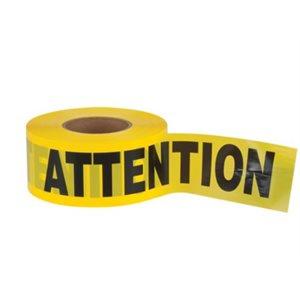 Ruban Attention 3'' x 1000p. / rlx Noir et jaune (S)
