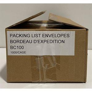 Envelope d'expédition claire 4.5 x 5 .5 cs / 1000 BC100 (R)