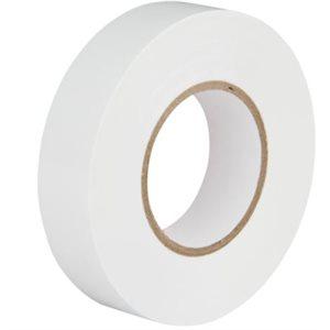 Ruban électrique Blanc 18mm x 20 y. / un.(S)