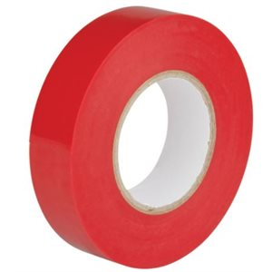 Ruban électrique rouge 18mm x 60' / un.(S)