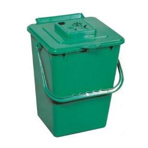 Bac de Cuisine pour Composte Filtre Charbon 9L Verte (LOU)
