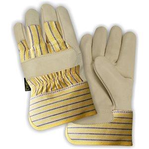 Gants de cuir doublés molletonnés dz. 7211