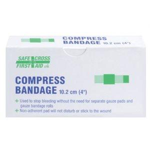 """Bandages compressifs 4"""" x 4"""" à l'unité #02024 (S)"""