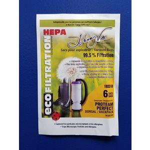 Sacs microfiltre Hepa 10331H pour Aspirateur Dorsal ProTeam pqt / 6