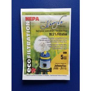 Sacs microfiltre 580H pour aspirateur ShopVac JV115 / 80 5 / pqt