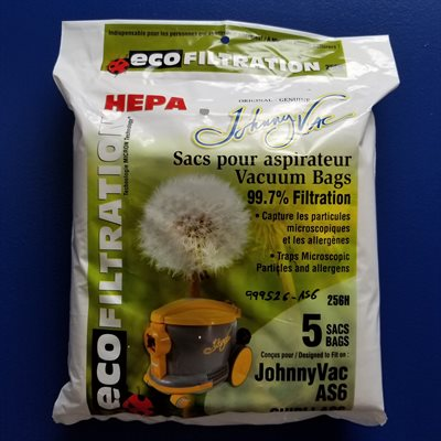 Sacs microfiltre Hepa 256H pour aspirateur AS6 pqt / 5 (J)