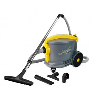 Aspirateur chariot commercial 1300w 4 gallons Johnny Vac AS6 gris et jaune Ghibli